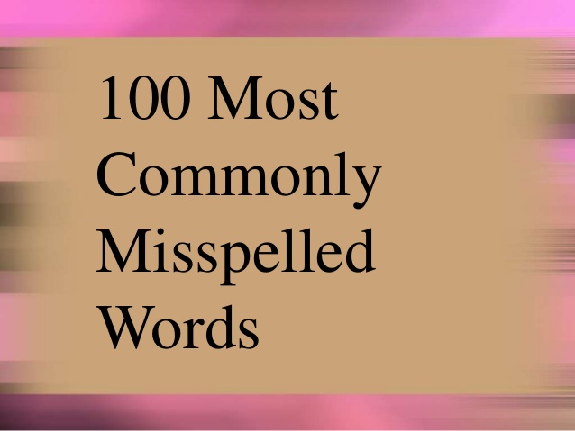 commonly misspelled words 1 638 - قوانین آزمون انگلیسی دولینگو