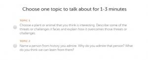 choose one topic 300x122 - نحوه قبولی در ازمون دولینگو (Duolingo test)