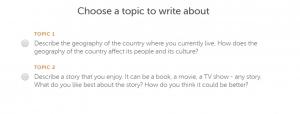 choose top to write 300x114 - نحوه قبولی در ازمون دولینگو (Duolingo test)